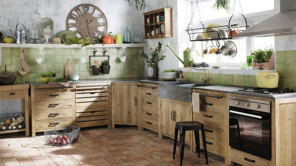 cuisine rustique et moderne