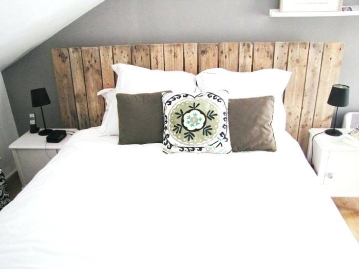 tête de lit palettes bois