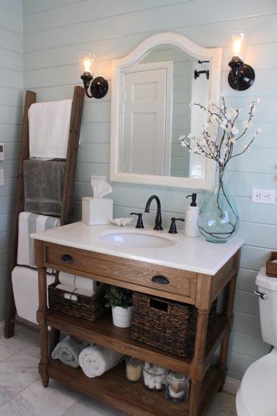décoration lavabo