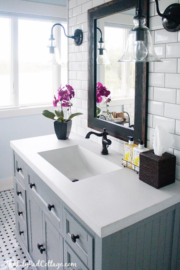 exemple décoration lavabo