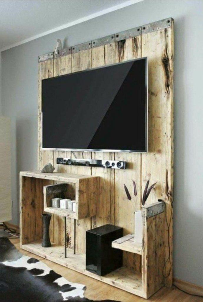 meuble télé bois