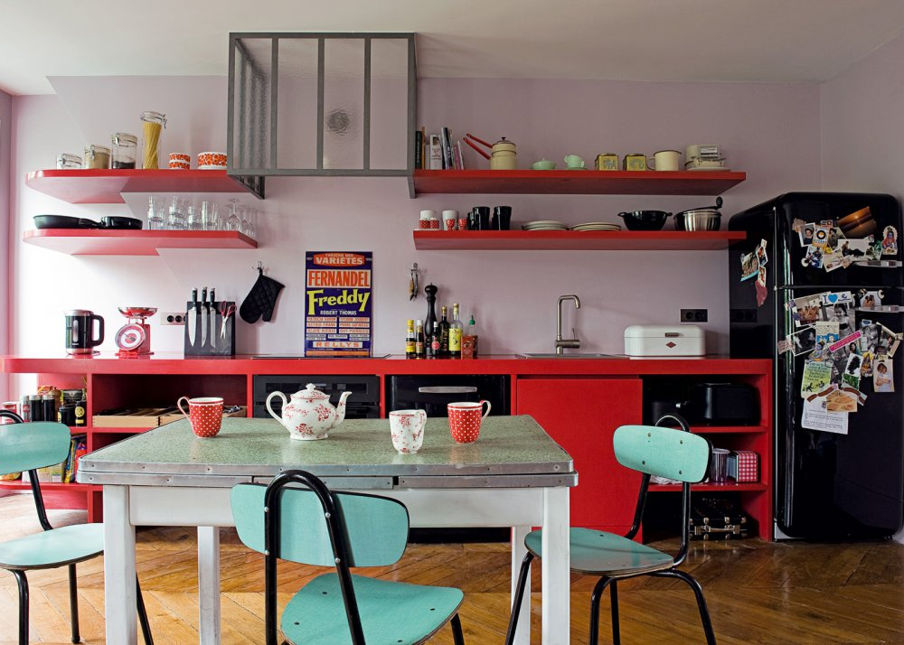 décoration cuisine rouge